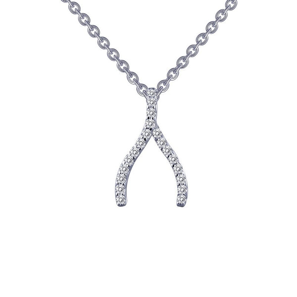 Lafonn Signature Lassaire Simulated Diamond Wishbone Necklace P0143CLP
