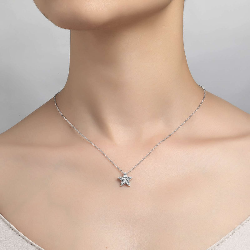 Lafonn Signature Lassaire Simulated Diamond Star Necklace P0144CLP