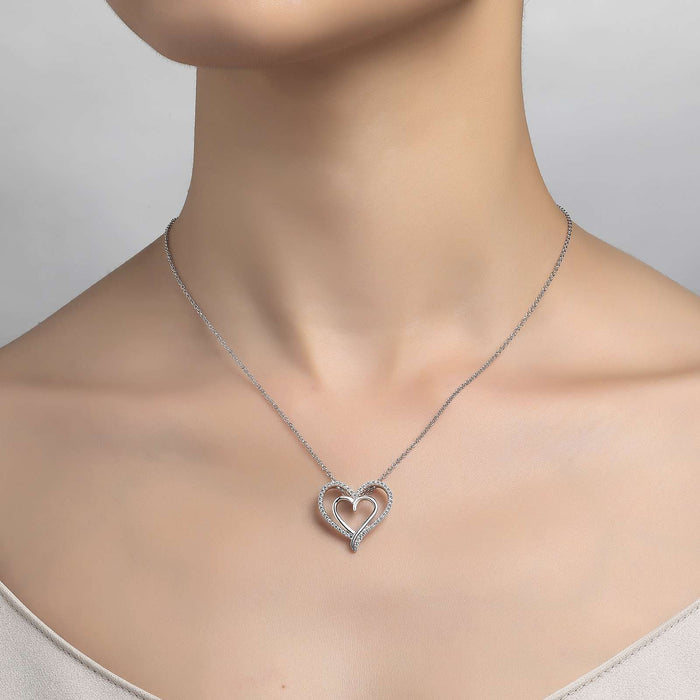 Lafonn Signature Lassaire Simulated Diamond Heart Necklace P0150CLP