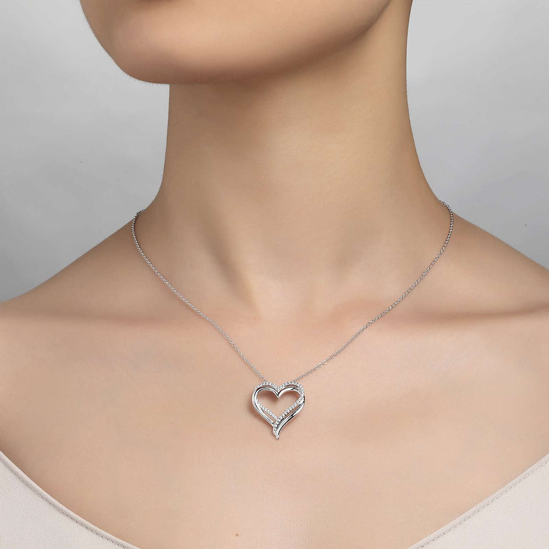 Lafonn Signature Lassaire Simulated Diamond Heart Necklace P0152CLP