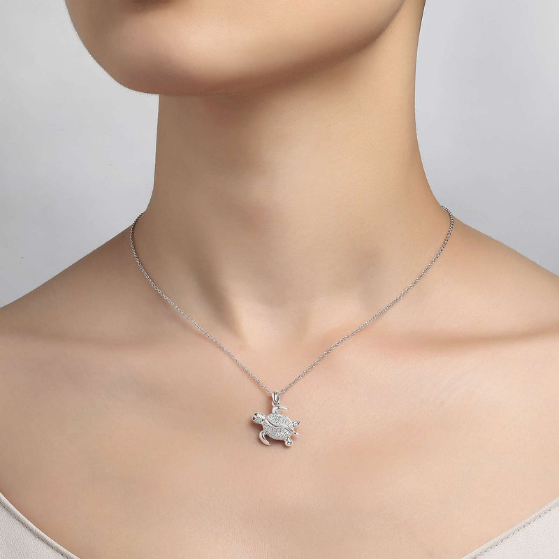 Lafonn Signature Lassaire Simulated Diamond Turtle Necklace P0154CLP