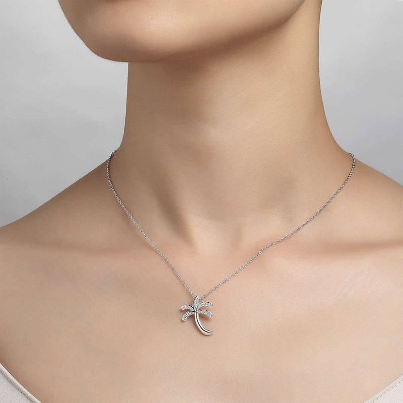 Lafonn Signature Lassaire Simulated Diamond Palm Tree Necklace P0155CLP