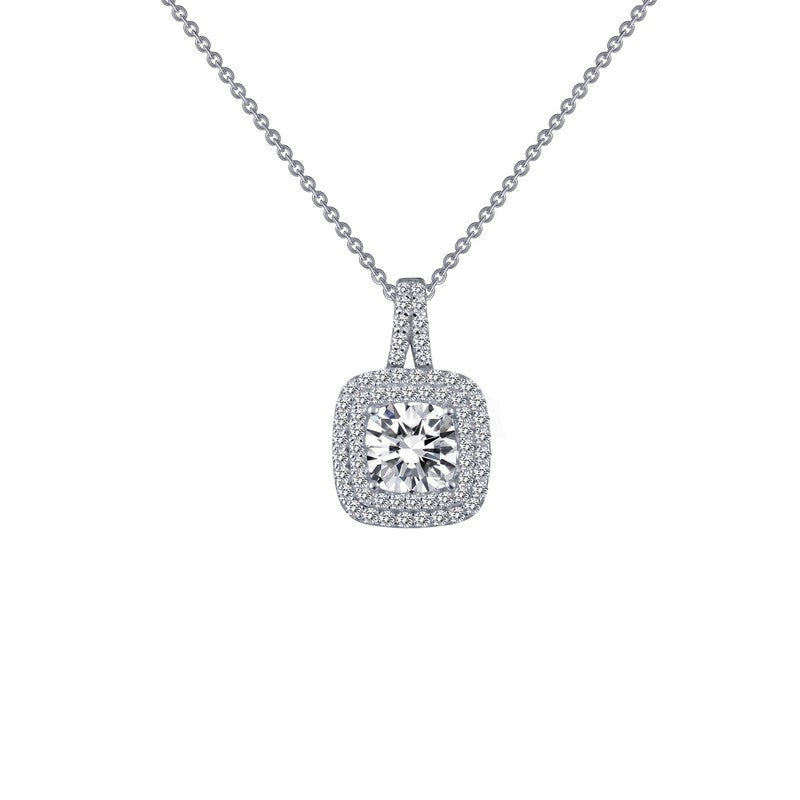 Lafonn Signature Lassaire Simulated Diamond Double Halo Necklace P0161CLP