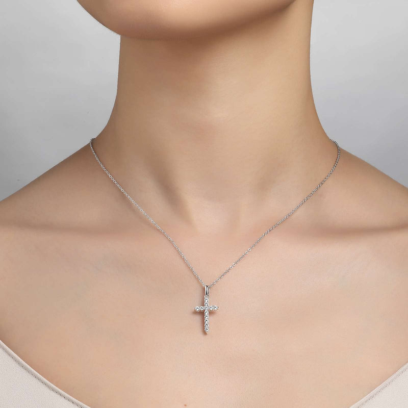 Lafonn Signature Lassaire Simulated Diamond Cross Necklace P0165CLP