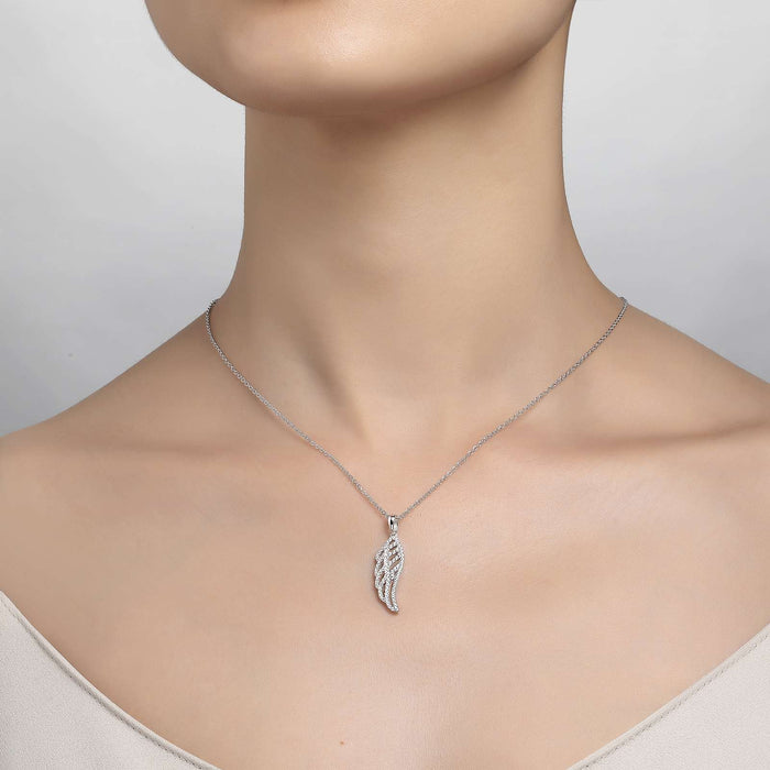 Lafonn Signature Lassaire Simulated Diamond Angel Wing Necklace P0173CLP