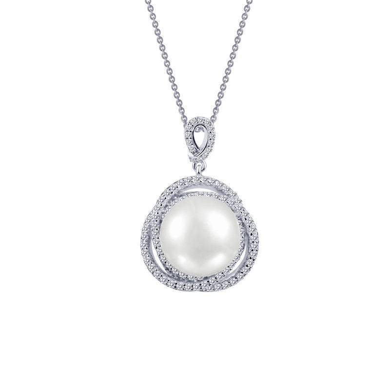 Lafonn Signature Lassaire Simulated Diamond and Fresh Water Pearl Necklace P0177PLP