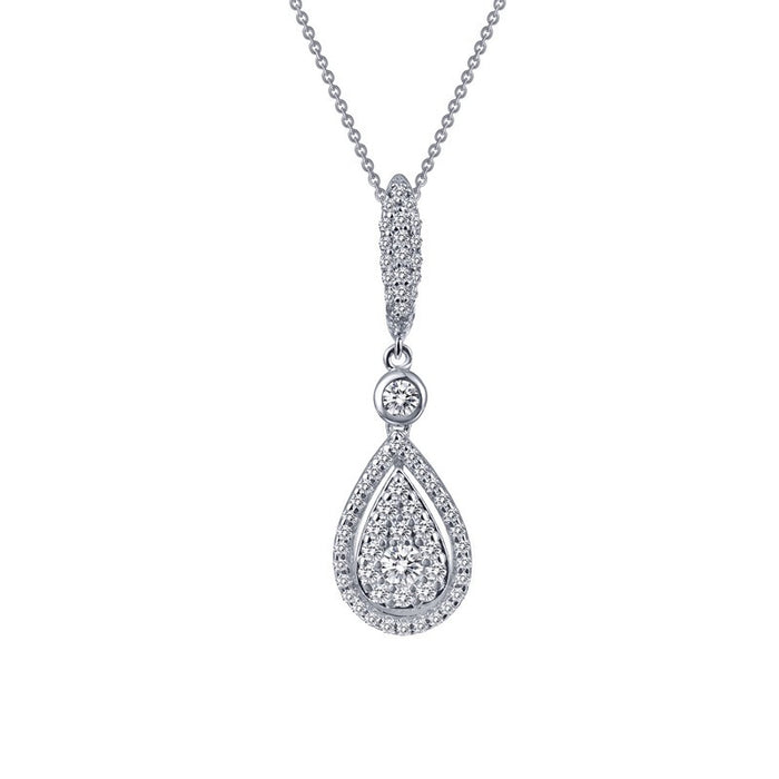 Lafonn Signature Lassaire Simulated Diamond Pear Shaped Dangle Necklace P0183CLP