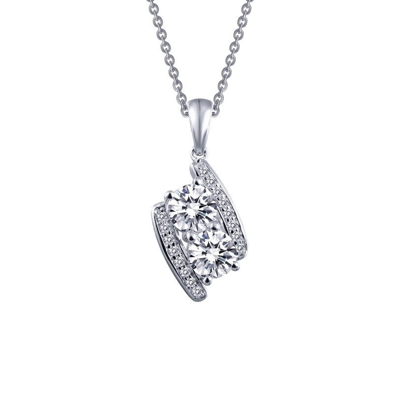 Lafonn Signature Lassaire Simulated Diamond Two Large Stone Necklace P0186CLP
