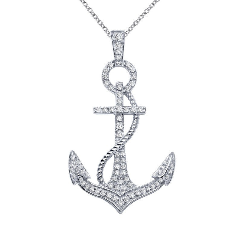 Lafonn Signature Lassaire Simulated Diamond Anchor Necklace P2004CLP