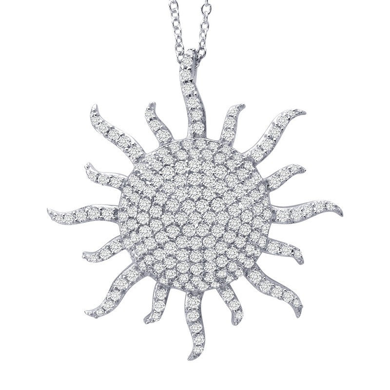 Lafonn Signature Lassaire Simulated Diamond Sunburst Necklace P3002CLP