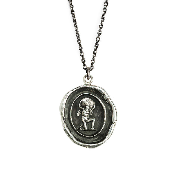Pyrrha-Pillar Of Strength Talisman Necklace