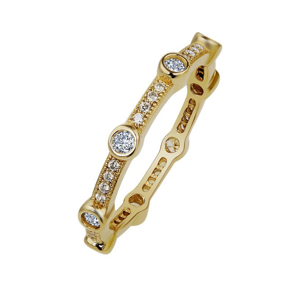 Lafonn Signature Lassaire Simulated Diamond Eternity Stackable Ring R0001CLG