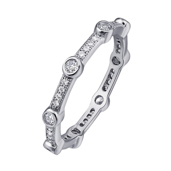 Lafonn Signature Lassaire Simulated Diamond Eternity Stackable Ring R0001CLP