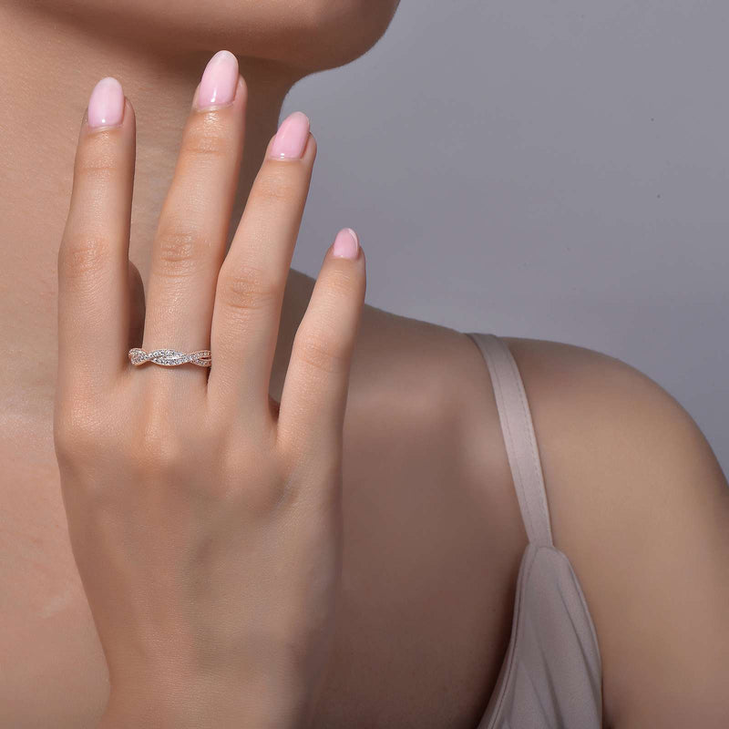 Lafonn Signature Lassaire Simulated Diamond Twisted Eternity Ring R0003CLP