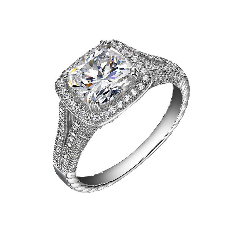 Lafonn Signature Lassaire Simulated Diamond Halo Ring R0014CLP05