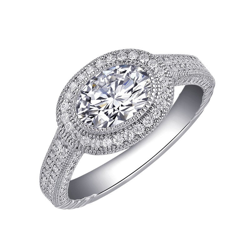 Lafonn Signature Lassaire Simulated Diamond Oval Halo Ring R0026CLP