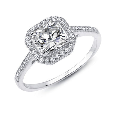 Lafonn Signature Lassaire Simulated Diamond Square Halo Ring R0029CLP
