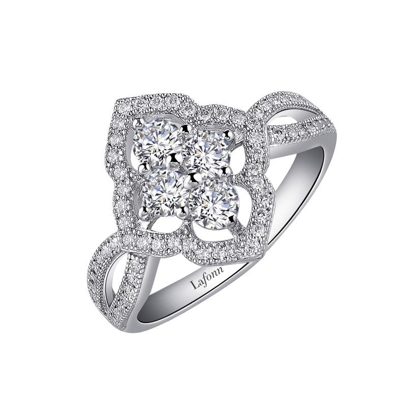 Lafonn Signature Lassaire Simulated Diamond Art Nouveau Inspired Ring R0030CLP