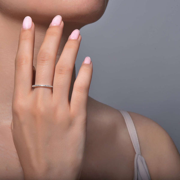 Lafonn Signature Lassaire Simulated Diamond Stackable Ring R0038CLP