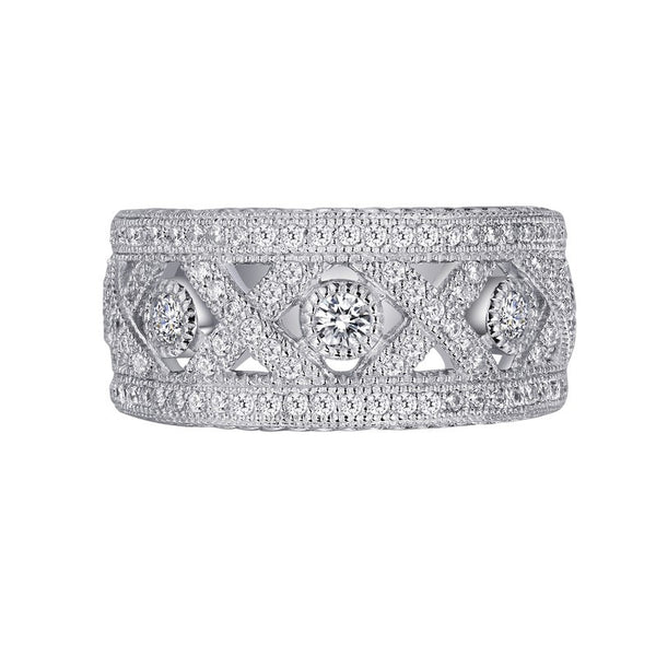 Lafonn Signature Lassaire Simulated Diamond Hugs and Kisses Eternity Band R0046CLP