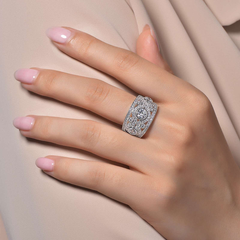 Lafonn Signature Lassaire Simulated Diamond Ring R0049CLP