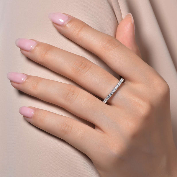 Lafonn Signature Lassaire Simulated Diamond Eternity Stackable Ring R0101CLP