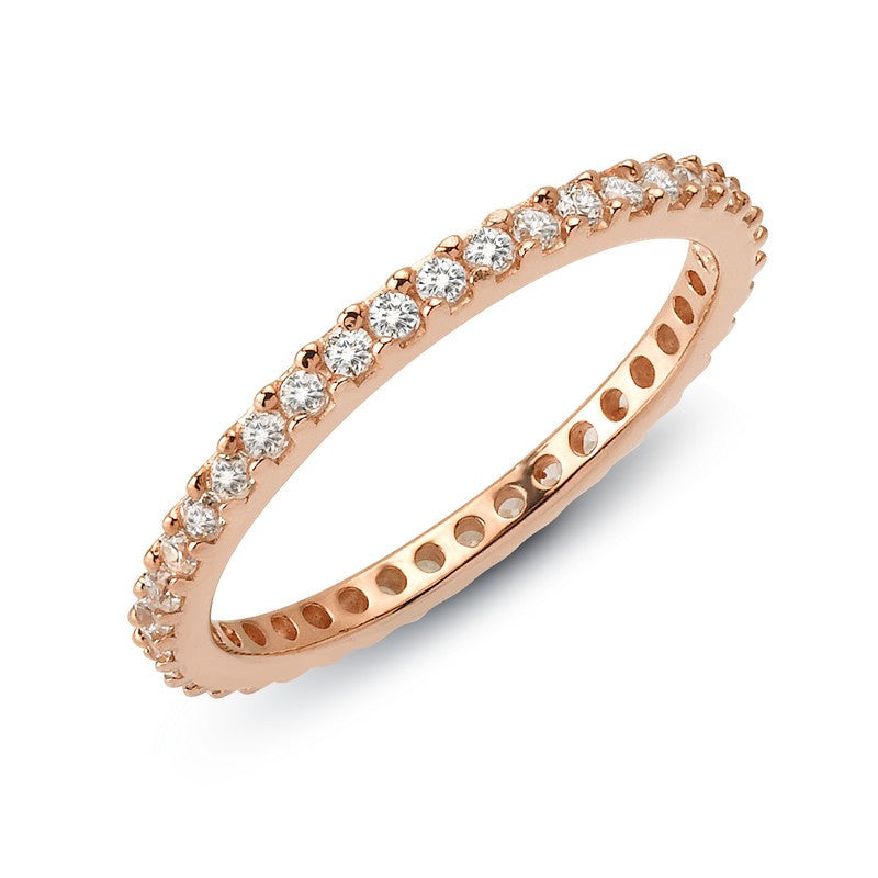 Lafonn Signature Lassaire Simulated Diamond Eternity Stackable Ring R0101CLR