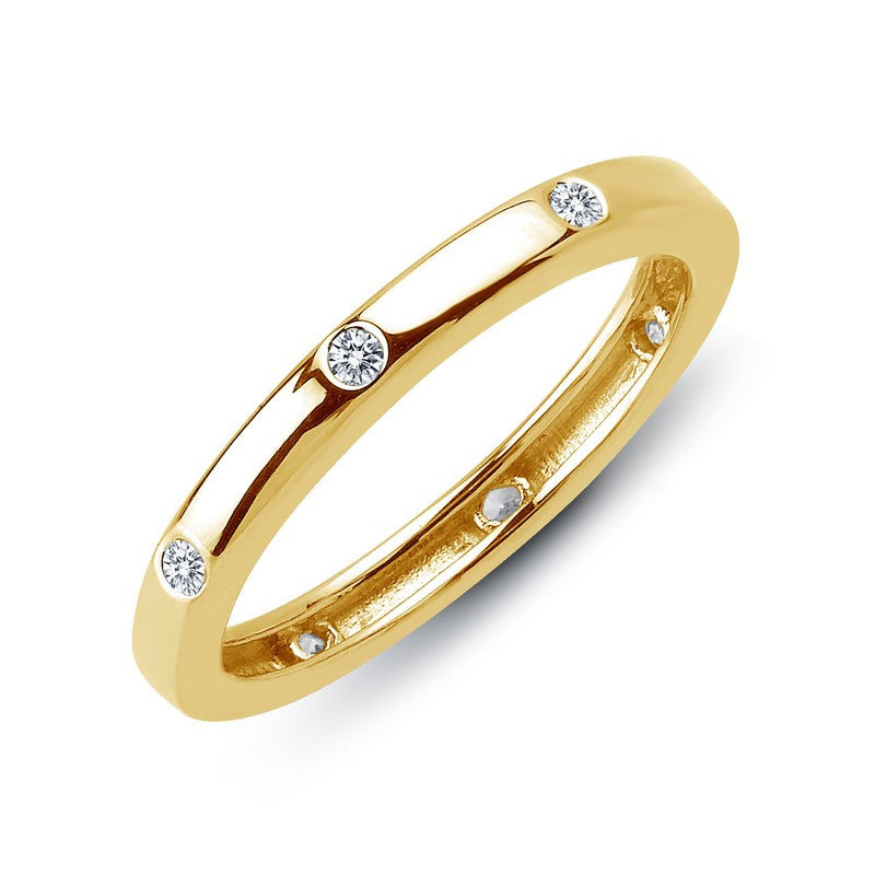 Lafonn Signature Lassaire Simulated Diamond Eternity Stackable Ring R0104CLG
