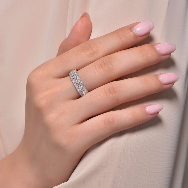 Lafonn Signature Lassaire Simulated Diamond Vintage Inspired Eternity Ring R0138CLP