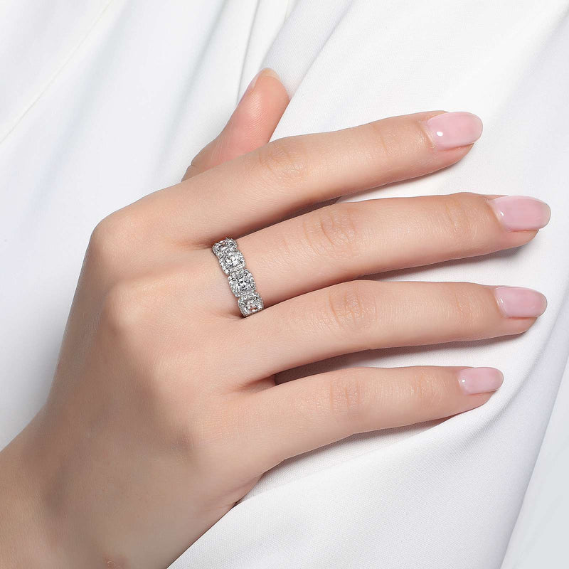 Lafonn Signature Lassaire Simulated Diamond Multi Halo Ring R0145CLP