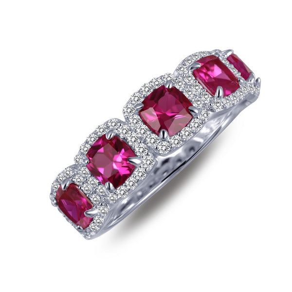Lafonn Signature Lassaire Simulated Diamond & Ruby Multi Halo Ring R0145CRP