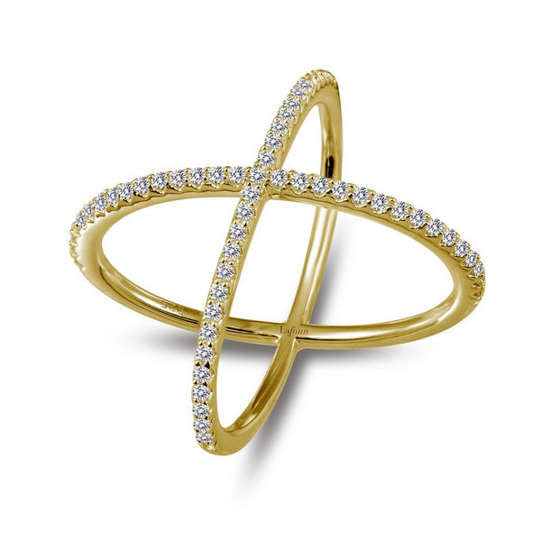 Lafonn Signature Lassaire Simulated Diamond Crossover Ring R0171CLG