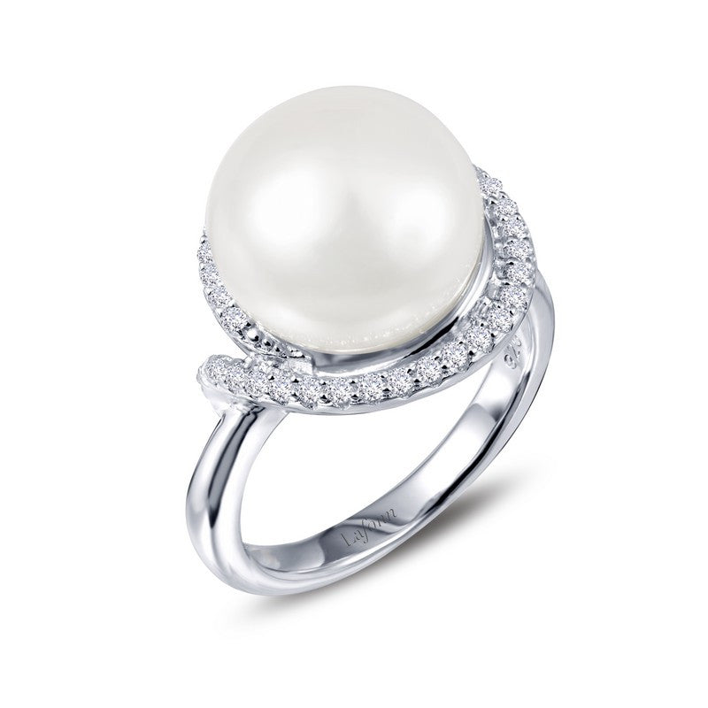 Lafonn Signature Lassaire Simulated Diamond and Fresh Water Pearl Ring R0181PLP