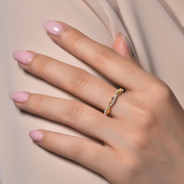 Lafonn Signature Lassaire Simulated Diamond Eternity Twist Stackable Ring R0211CLG