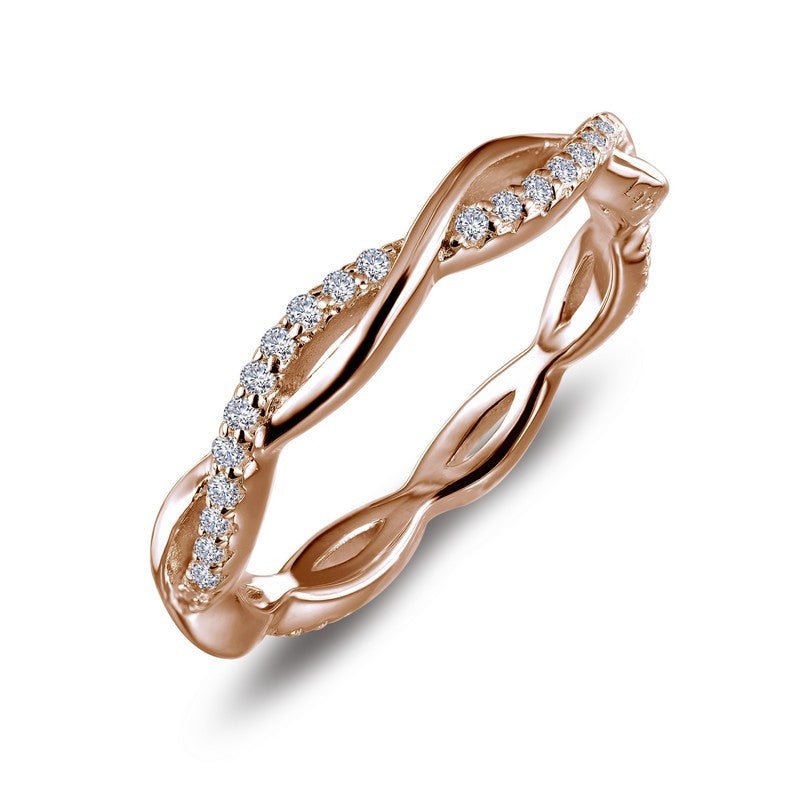 Lafonn Signature Lassaire Simulated Diamond Eternity Twist Stackable Ring R0211CLR