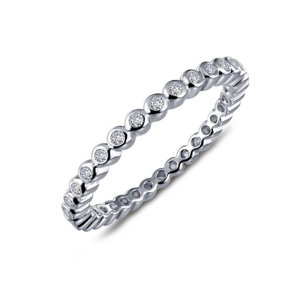 Lafonn Signature Lassaire Simulated Diamond Bezel Eternity Stackable Ring R0212CLP