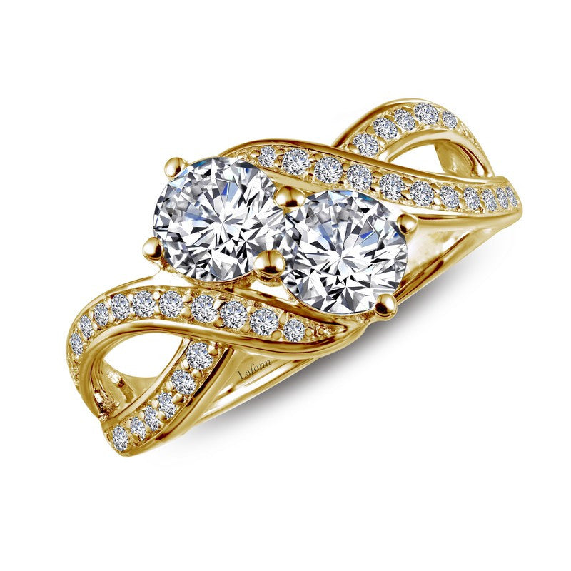 Lafonn Signature Lassaire Simulated Diamond Two-Stone Ring R0219CLG