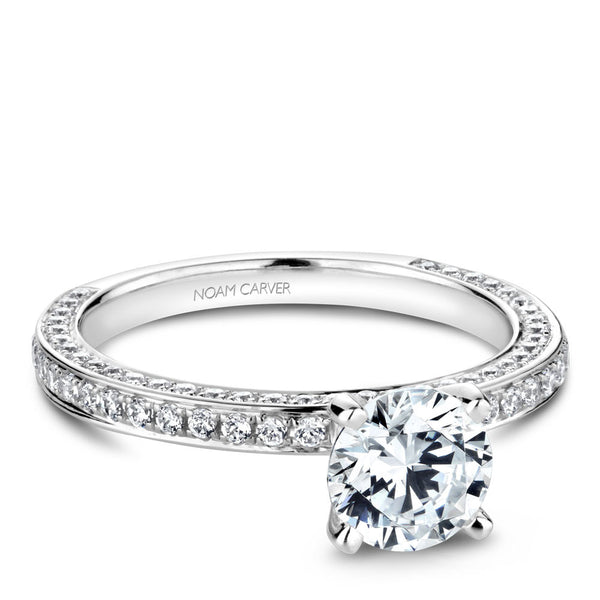 Noam Carver Diamond Wrapped Engagement Ring R048-01A