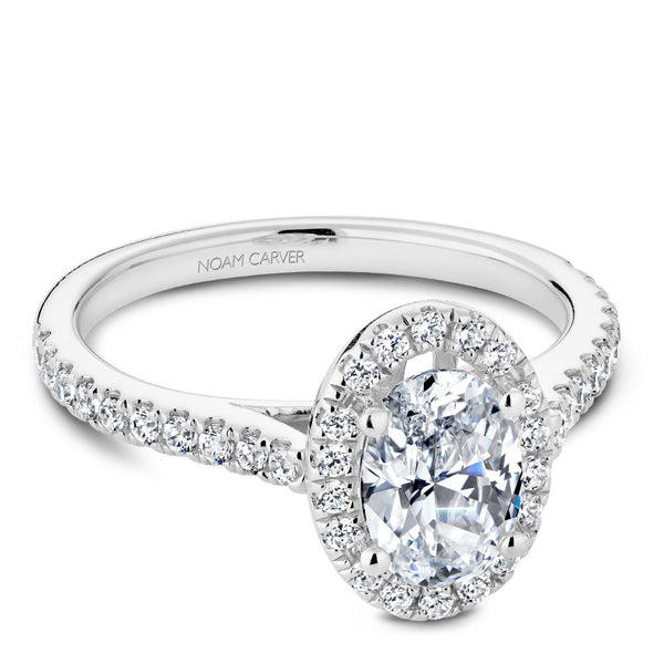 Noam Carver DIamond Halo Engagement Ring R050-02A