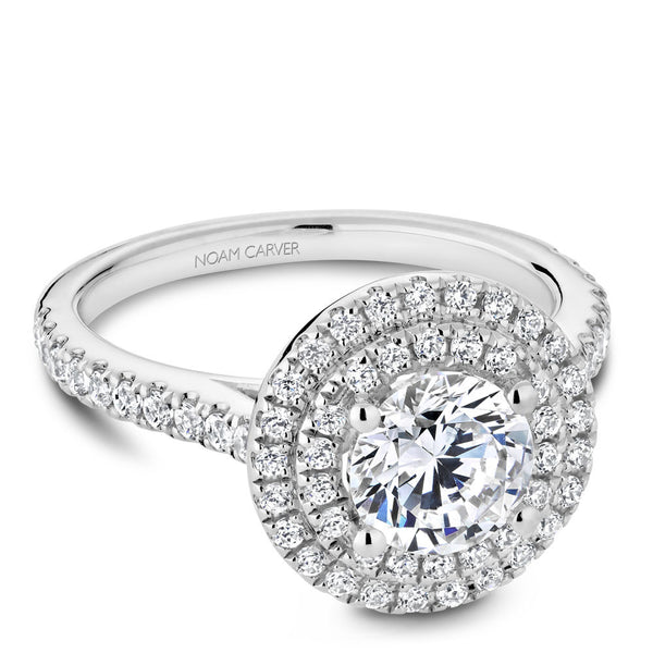 Noam Carver Double Halo Diamond Engagement Ring R051-01RA