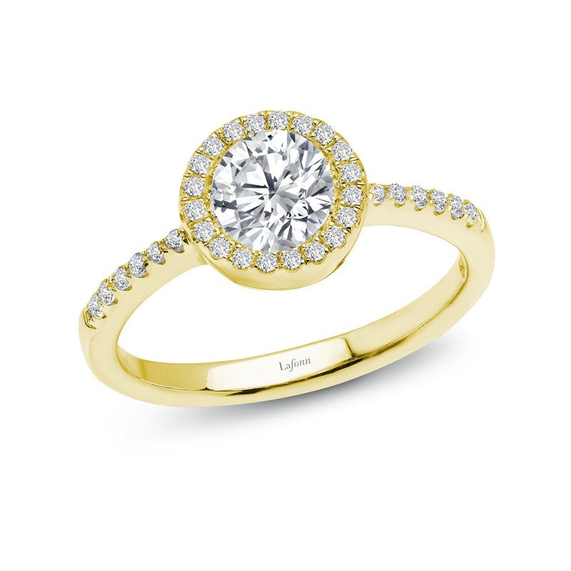 Lafonn Signature Lassaire Simulated Diamond Halo Ring R2001CLG