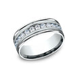 Benchmark Comfort Fit High Polished Channel Set Diamond Wedding Band RECF518516