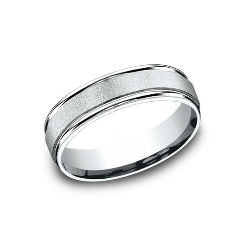 Benchmark Comfort Fit Wired-Finished Center Wedding Band RECF7602
