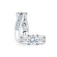 A.Jaffe Classic Wide Channel Set Round Center Engagement Ring RMS006/199