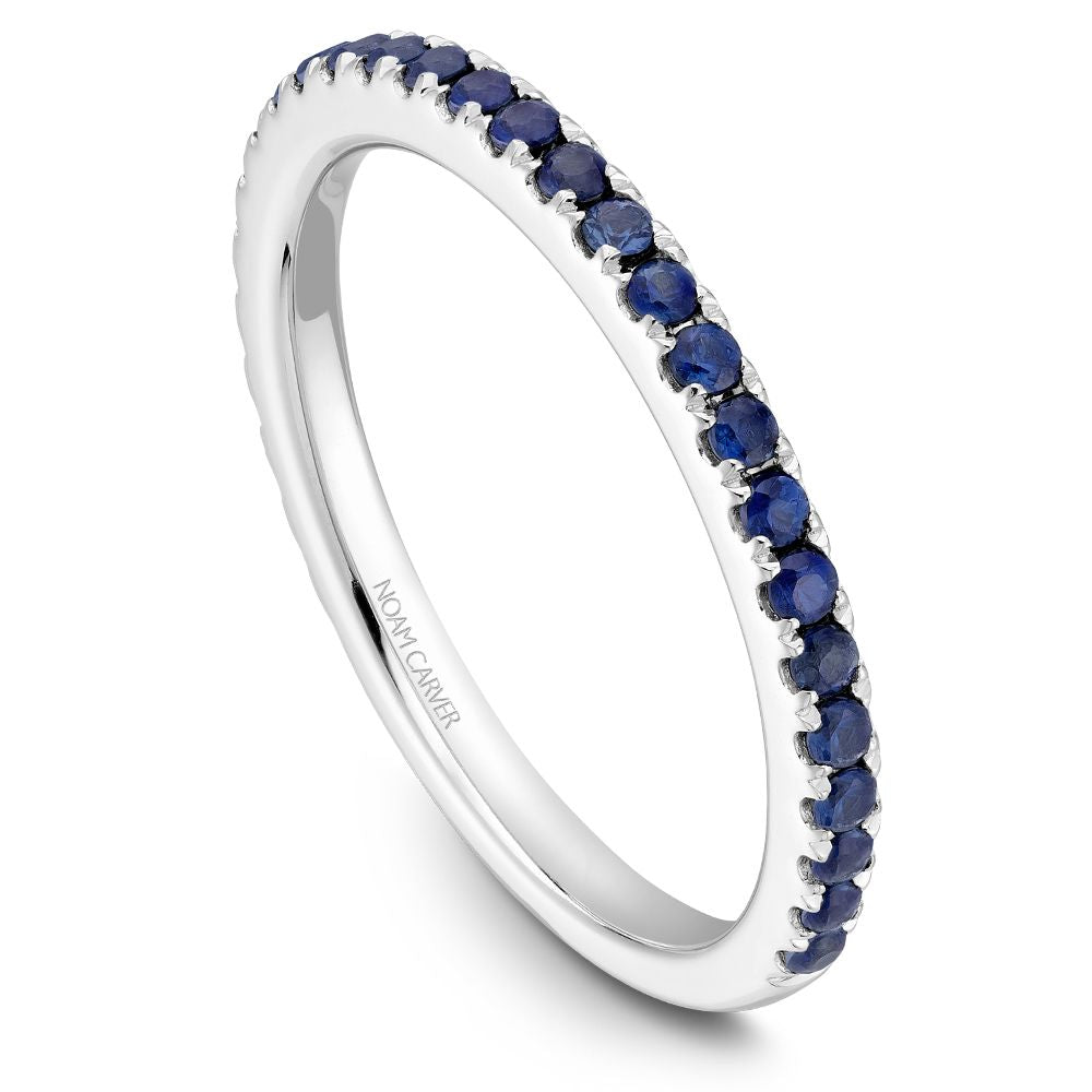 Noam Carver Stackable Collection 0.44cttw. Blue Sapphire Fashion Ring STA2-1-B