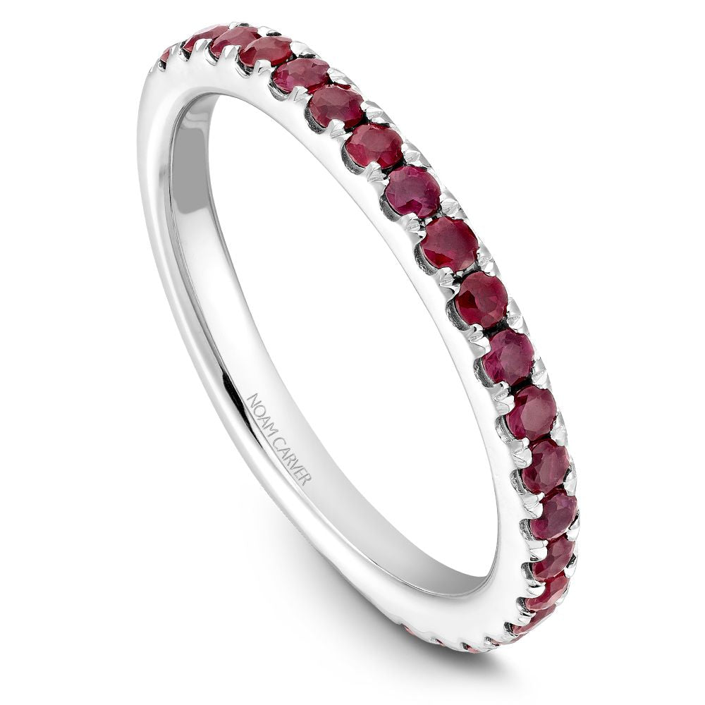 Noam Carver Stackable Collection 0.52cttw. Ruby Fashion Ring STA3-1-R