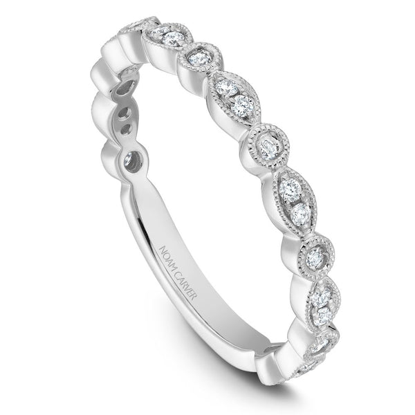 Noam Carver Stackable Collection 0.21cttw. Diamond Fashion Ring STB4-1