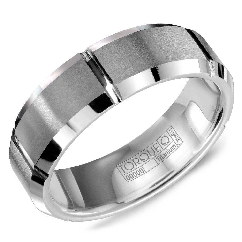 Torque Tungsten Collection 7MM Wedding Band with Beveled Edges TU-0001