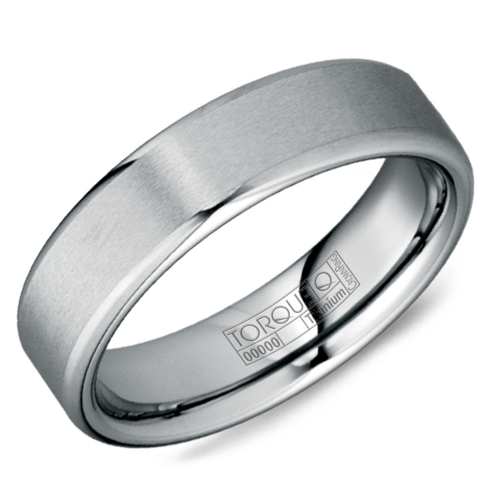 Torque Tungsten Collection 6MM Wedding Band with Brushed Finish TU-0004