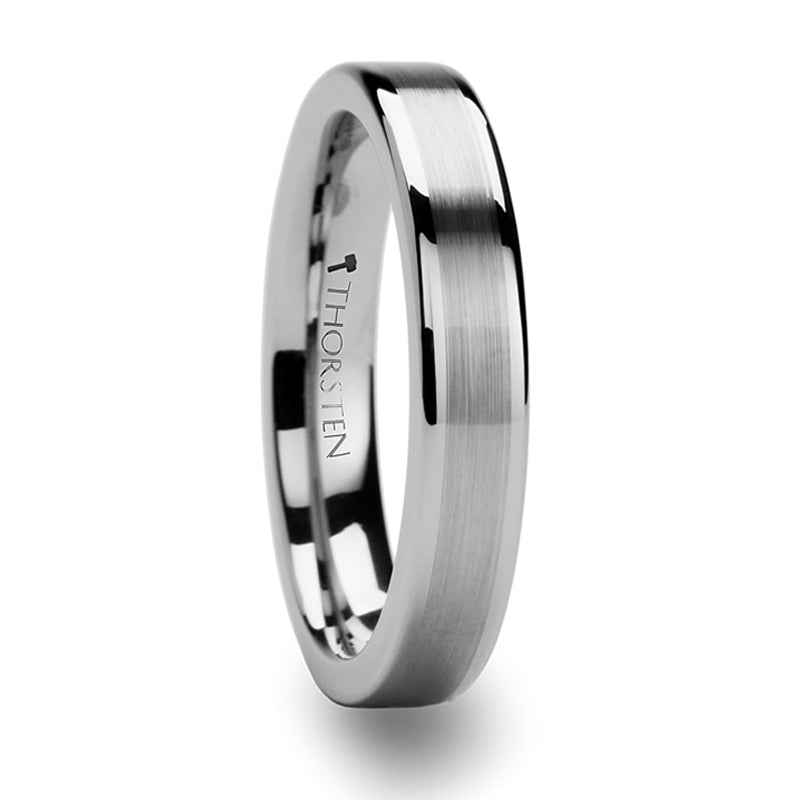 Thorsten Aires Pipe Cut Brush Center Tungsten Carbide Ring (4-10mm) W247-FBC